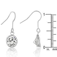 Bezel Solitaire Stud Earrings
