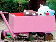 petit chariot de bois (tutoriel gratuit - DIY) • Hellocoton.fr