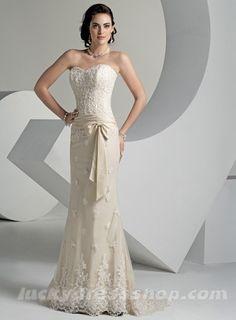 Pretty champaign lace dress