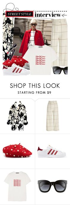 """street style: fashion interview."" by shadowofday ❤ liked on Polyvore featuring River Island, adidas Originals, AlexaChung and Gucci"