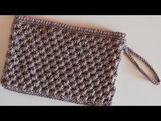 How To Knit Star Bag Stitch Video Tutorial - Diy Crafts Crochet Star Stitch, Crochet Waffle Stitch, Crochet Cord, Crochet Clutch, Crochet Purses, Crochet Bags, Crochet Stitches Patterns, Crochet Designs, Crochet Hat For Beginners