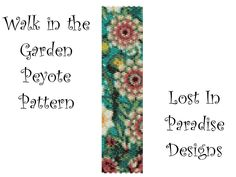 Peyote Bracelet Pattern - Walk in the Garden - Peyote Stitch Pattern