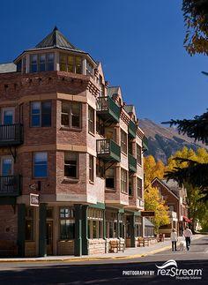 Hotel Columbia in Telluride Colorado Telluride Lodging, Telluride Colorado, Colorado River, Mountain Range, Lodges, Columbia, Tourism, Beautiful Places, Explore