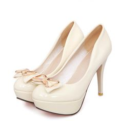 Wholesale Design pumps sweet bowknot slim heel elegant shoes Z-BD625 - Lovely Fashion