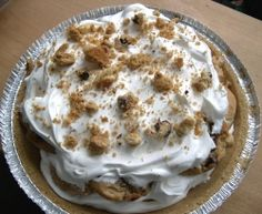 "Love this ""I'm a Lazy Mom"" blog - easy easy recipes! Daniel and I make this one all the time... just not in a pie crust. And instead of just whip cream we whip up a tub of cool whip and whipped white icing and use it - soo much sweeter! and we also just use the cheap 0.97 cookies from walmart... you don't need name brand here!"