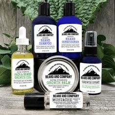 Beard Growth Oil and Balm in regular and extra strength, growth spray, mustache growth oil, grooming kits. Best beard growth made with organic ingredients. Best Beard Growth, Beard Growth Kit, Beard Shampoo, Beard Conditioner, Mustache Growth, Beard Softener, Beard Maintenance, Porous Hair, Patchy Beard