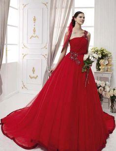 Radiosa red wedding gown - 2014