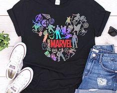 Marvel Mickey Tshirt / Disney / Disneyland / Mickey Minnie / Women's Crew / V-Neck / Youth Girls Tee / Xmen / GOTG / Groot / Avengers by FitandNerdyCreations on Etsy Cute Disney Outfits, Disneyland Outfits, Cute Outfits, Disney Clothes, Disney Clothing For Women, Disneyland Shirts, Skater Outfits, Emo Outfits, Sassy Shirts