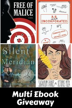 4 books to choose from - B.S. Incorporated, Silent Meridian, Free of Malice, and Sugar Plum Fairies & Octopus Pizza