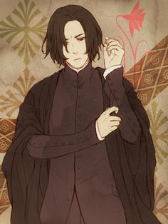 Severus Snape: My Eternal Prince - Artwork by みじ.  Homage to Mr. Rickman (Jan. 14th, 2016).