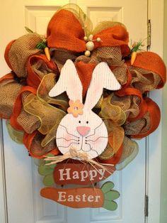 Super cute Easter Burlap wreath