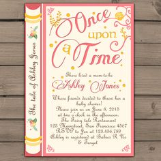Free printable baby shower invitations for freeeeee pinterest once upon a time baby shower invitation shower invite gender neutral fairy tales storybook baby shower invitations digital printable diy filmwisefo