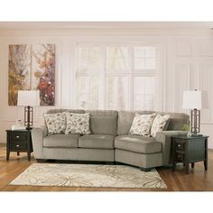 ashley furniture small sofa small sectional w cuddler signature design by