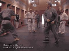 Sinmoo Hapkido Kick Defense with Dojunim Ji, Han Jae  Martial arts gifs