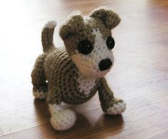 Cute dog - amigurumi crochet free pattern.  Made this for my friend's baby