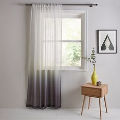 Buy Steel John Lewis & Partners Ombre Voile Panel, x Drop from our Ready Made Curtains & Voiles range at John Lewis & Partners. Ombre Curtains, Voile Curtains, Curtains With Blinds, Curtain Fabric, Diy Bedroom Decor, Diy Home Decor, Bedroom Ideas, Curtain Headings, Voile Panels