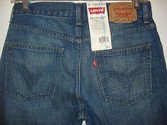 NWT LEVIS 514 slim straight 16 Regular Dark Wash L 28 W 28 Boys Jeans