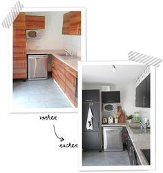 Küchenschränke bekleben - Wie kann man alte Küchenfronten erneuern ...