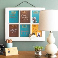 i want to combine this window pane chalkboard idea with the BHG chalkboard cabinet idea from the same slideshow.