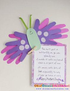 anneler günü için değişik kart örneklerimiz - OKUL ÖNCESİ ETKİNLİKLERİ - Hayallerinizi Sınırlamayın
