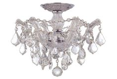 Ryley 3-Light Semi-Flush Mount, Crystal