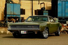 1968 Dodge Charger R/T | don't normally like this green, but looks good here