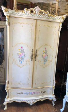 ITALIAN SILIK style Armoire Dresser Wardrobe Rococo Baroque Victorian Buffet Cabinet, Media Cabinet, Sideboard Buffet, Jewelry Cabinet, Jewelry Armoire, Rococo, Baroque, Wardrobe Storage Cabinet, Armoire Dresser