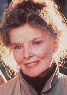 Katharine Hepburn on set for On Golden Pond