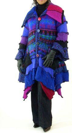 Farb-und Stilberatung mit www.farben-reich.com - Blue and Purple Mohair Sweater Coat  Size door Brendaabdullah, $385.00