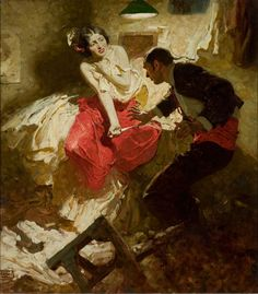 Dean Cornwell, The Red Shawl, illustration from Hearst's…