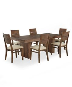 Champagne Dining Room Furniture 7 Piece Set Table And 6 Side Chairs