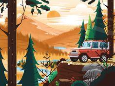 """Dribbble - """"lookout"""" by Matt Carlson"""