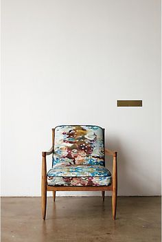 Beautiful watercolor modern occasional chair...love.