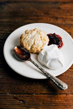 Hummingbird High: Sweet Cream Biscuits with Plum Jam and Earl Grey Whipped Cream