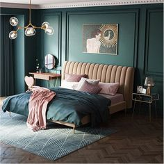 33 Popular Master Bedroom Decor Ideas - If coming up with master bedroom decorating ideas can be fun, implementing them is where you may run into a few snags. The first thing that you need t. Romantic Bedroom Decor, Home Decor Bedroom, Bedroom Furniture, Furniture Makeover, Furniture Design, Bedroom Color Schemes, Bedroom Colors, Guest Bedrooms, Master Bedroom