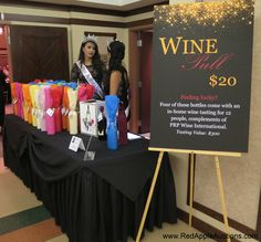 Wine pull, staffed by pageant competition winners