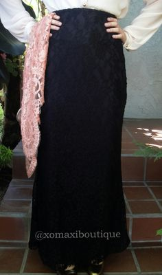 XoMaxi Boutique beautiful elegant Sweet Lace Maxi skirt.