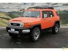 Magma Orange 2013 Toyota FJ Cruiser 4WD Exterior Photo #72732995