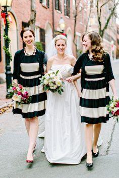 Preppy chic New England wedding: http://www.stylemepretty.com/little-black-book-blog/2015/03/19/elegant-winter-boston-state-room-wedding/ | Photography: Kelly Dillon - http://kellydillonphoto.com/