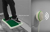smart doorbell integrated in foot mat