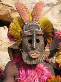 Masked Dancer, Dogon Region, Mali. The Dogon are an ethnic group living in the central plateau region of the country of Mali. The Dogon are best known for their religious traditions, their mask dances, wooden sculpture, and their architecture. Getty Images/Peter Adams