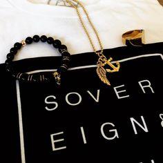 Gear up. #streetwear #mensfashion #jewelry #skulls #anchor