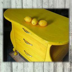 Комод. Мебель ручной работы. Купить Красочные комоды. Handmade. Комод, яркий, красный, берёза Желтый. Деревянный.