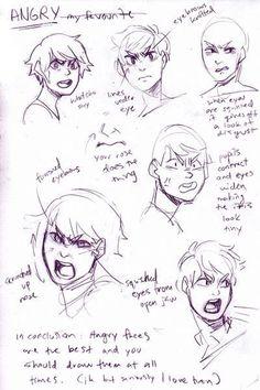 Resultado de imagem para angry expressions drawing