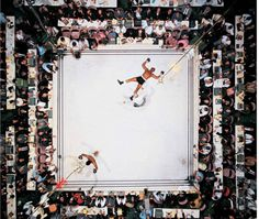 Blazepress: Aerial Shot of Muhammed Ali after knocking out Cleveland Williams in 1966.