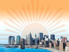 Many countries was the United States at the beginning of the sunrise of the New York city touted an image. City Background, New York City, Countries, Presentation App, Holiday Backgrounds, New York Skyline, Sunrise, United States, Travel