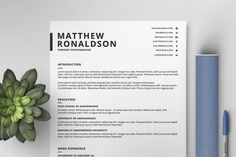 Resume/CV Template IX by Print Forge on @creativemarket