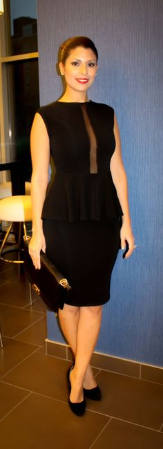 Little Black Peplum Dress  #FallFashion #fashionTrends  Manuela Yush Fashion Blog