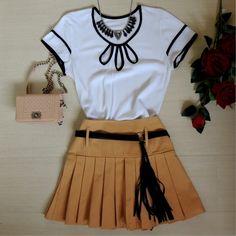blusa-branca-preta-navy-laço-feminina-estilosa-2016-comprar-saia-pregas-camel