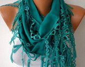 -Teal -- SALE Scarf (13.50 USD) -- Free Scarf on ETSY